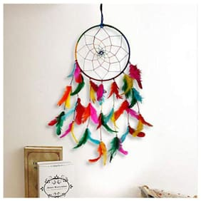 HARDIK @HOME CREATION Dream Catcher;Wall Hangings;Home Decor;Handmade Dreamcatcher for Bedroom;Balcony;Garden;Party;Cafe;Small Ring Beaded for Positive Energy and Protections