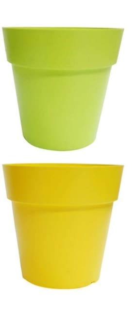 hardik multi colour planter for indoor and outdoor (size 6 inch) colour may vary not same as shown in image) set of 2