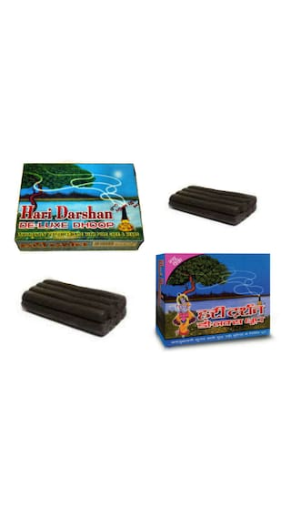 Hari Darshan Deluxe Dhoop Luxuriantly Perfumed Made With Pure Herbs Pack Of 10 by IS