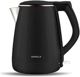 Havells AQUA PLUS 1.2 L Black Electric Kettle ( 1500 W )