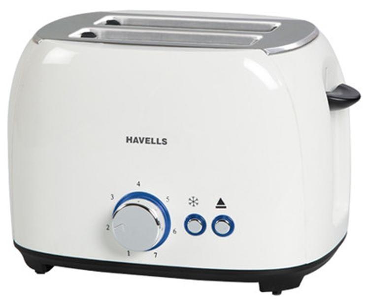 Havells Crust 2 Slice 800 Watt Pop Up Toaster (White)