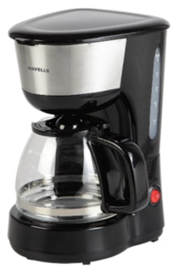 Havells Drip Caf -N 6 Cups 600 Watt Filter Coffee Maker (Black & Silver)