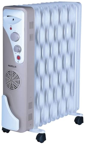 Havells OFR 11 2900W Wave Fins with Fan (Beige;White)