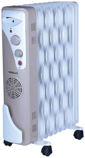 Havells OFR 9  2500W Wave Fins with Fan (Beige;White)