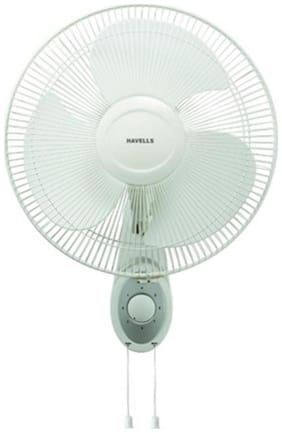 Havells PLATINA 400 mm Wall Fan - White , Pack of 2