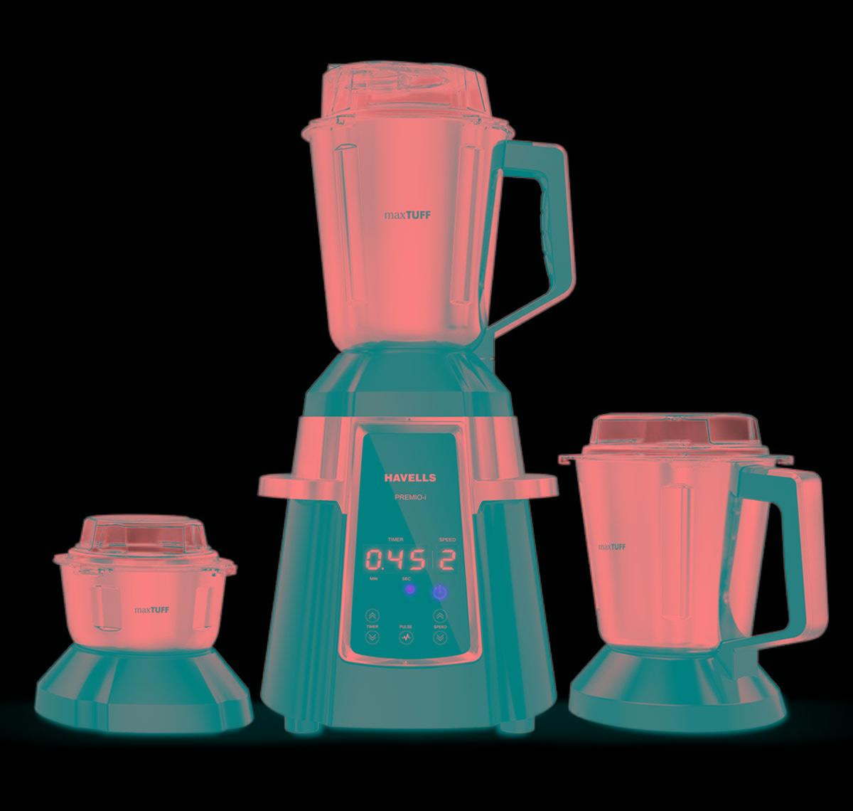 Havells Premio I Digital control Mixer Grinder 750 W (Black/3 Jars)