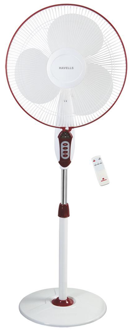 Havells Sprint LED Remote 400 MM Pedestal Fan (Red)