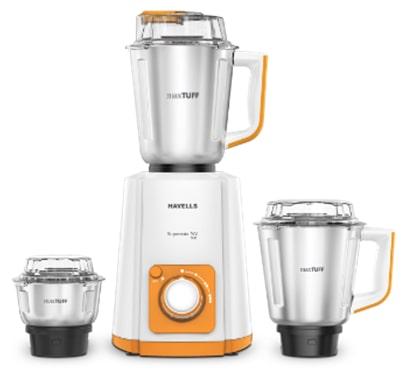 Havells Suprmix NV 500 Watt 3 Jar Mixer Grinder (Orange)