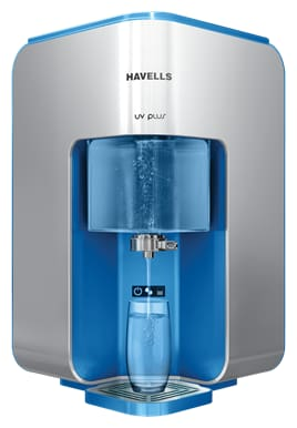 Havells UV Plus 8 L UV+UF Electric Water Purifier (Silver & Blue)