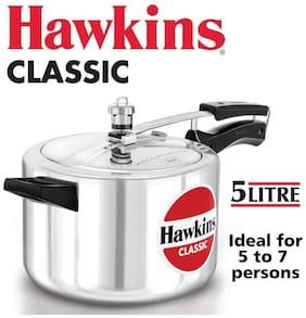 Hawkins Classic Aluminum Pressure Cooker, 5 Litres