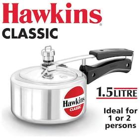 Hawkins Classic CL15 1.5-L New Improved Aluminum Pressure Cooker;Small;Silver