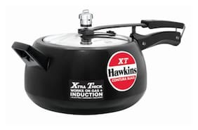 Hawkins Contura Aluminium 5 L Induction Bottom Inner Lid Pressure Cooker - Set of 1