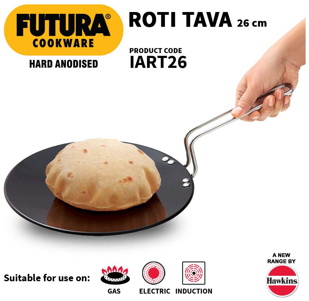 Hawkins Futura Hard Anodised Induction Roti Tawa 26 cm 4.88mm