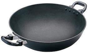 Hawkins Futura Non Stick Kadhai Deep-Fry Pan, 4 Litre, Black