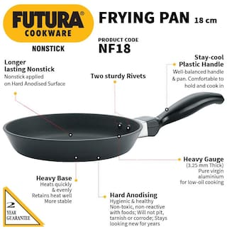 Hawkins 0.5 ltr Without Lid Fry Pan ( PTFE , Set of 1 )