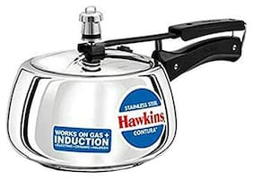 Hawkins Stainless Steel Contura 5 5 Pressure Cooker with Induction Bottom  (Stainless Steel)