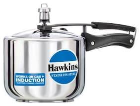 Hawkins Stainless Steel 5 L Induction Bottom Inner Lid Pressure Cooker - Set of 1 ,