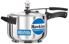 Hawkins Stainless Steel 6 L Induction Bottom Inner Lid Pressure Cooker - Set of 1 ,