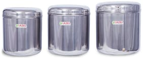 Hazel 11000 ML Silver Stainless steel Container Set - Set of 3
