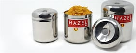 Hazel Alfa Stainless Steel New Kitchen Storage Containers Set of 3 (350ml, 450ml, 650ml) - Silver