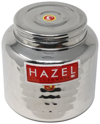 Hazel Alfa Stainless Steel Kitchen Storage Ladoo Containers 1pc 900ml Silver