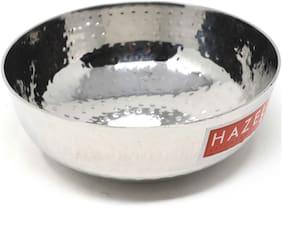 Hazel Alfa Stainless Steel Hammered Tone Kadai Tasra, Diameter 18 cm, 1000 ml