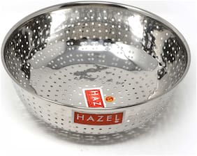 Hazel Alfa Stainless Steel Multipurpose Food & Vegetable Strainer, 1 Pc, Dia 25 cm