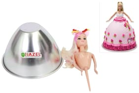 Hazel Aluminium Doll Frock Cake Mould Small 17.5 cm X 11.5 cm