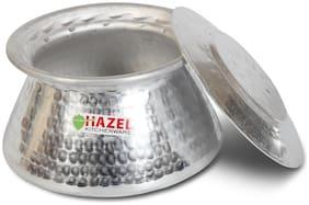 Hazel Aluminium Hammered Finish Patila Tope;2.45 L;Silver