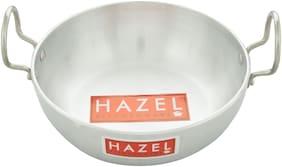 Hazel Aluminium Induction Base Kadai 4 mm, 1750 Ml, Silver