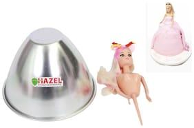 Hazel Aluminium Doll Frock Cake Mould Medium 19 cm X 13.5 cm