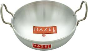 HAZEL Aluminium Kadai 4mm;3500 ml;Silver.