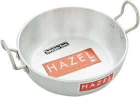 Hazel Aluminium Induction Base Kadai 4 mm, 1125 Ml, Silver