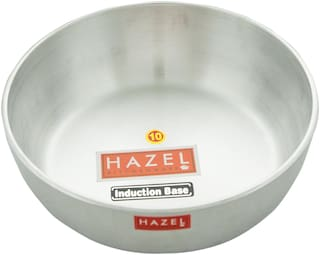 Hazel Aluminium Induction Tansra 4 mm, 875 ml, Silver