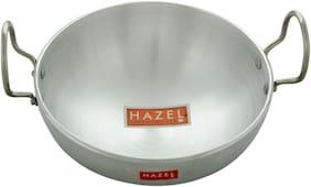 Hazel Aluminium Kadai 4 mm, 1125 ml, Silver