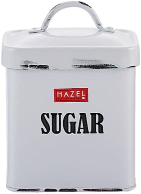 Hazel Antique Rectangle Sugar Storage Cannister Container;1150Ml
