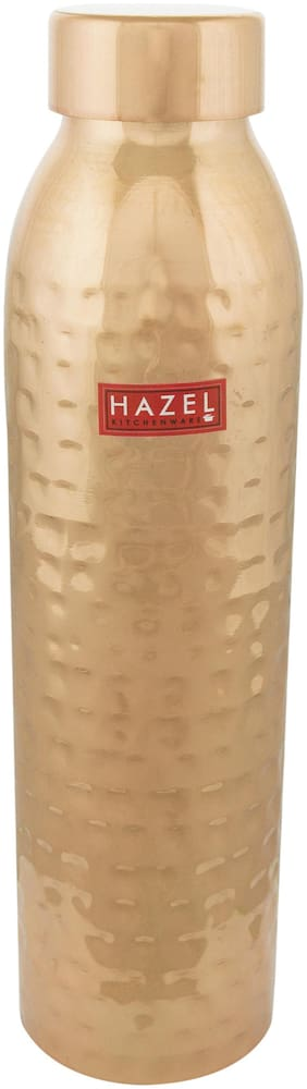 Hazel 1000 ml Copper Copper Water Bottles - Set of 1