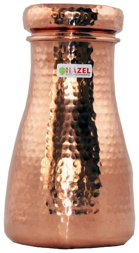 Hazel Copper Brown Water Bottle ( 650 ml , Set of 1 )