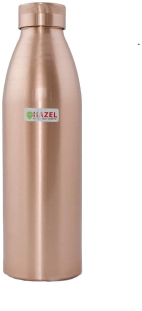 Hazel Copper Brown Water Bottle ( 800 ml , Set of 1 )