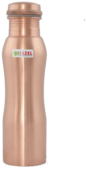 Hazel Copper Brown Water Bottle ( 700 ml , Set of 1 )