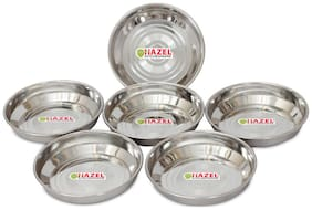 HAZEL Designer Steel Dishes / Plates - 6 Pcs Set - Small