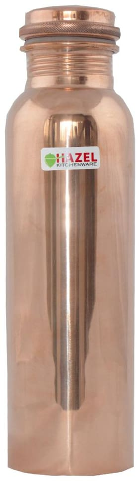 Hazel Copper Brown Water Bottle ( 900 ml , Set of 1 )