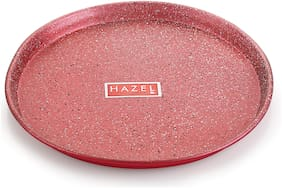 Hazel Non Stick Pizza Tray Microwave Oven Otg Aluminium Bakeware Round Baking Plate Pan Tawa For 9 Inch Base;Red