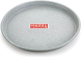 Hazel Non Stick Pizza Tray Microwave Oven Otg Aluminium Bakeware Round Baking Plate Pan Tawa For 9 Inch Base;Grey