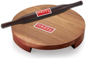 Hazel Wood Brown Chakla belan sets ( Set of 2 )
