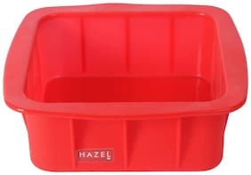 Hazel Small Silicon Square Cake Mould 15 Cm;1 Pc;Red