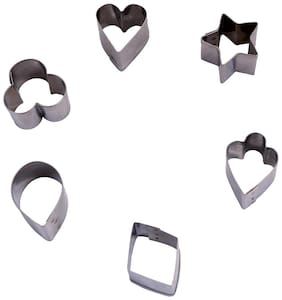 Hazel Staainless Steel Dessert Mould, Silver, 6 Pc Set