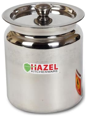 Hazel Stainless Steel Oil / Ghee Storage Container, 1.5 Litre, Silver