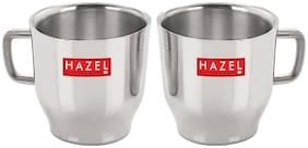 Hazel Stainless Steel Green Tea And Coffee Small Classic Cup 75 ML