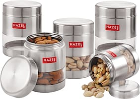 Hazel 450 ml Silver Stainless steel Container Set - Set of 5